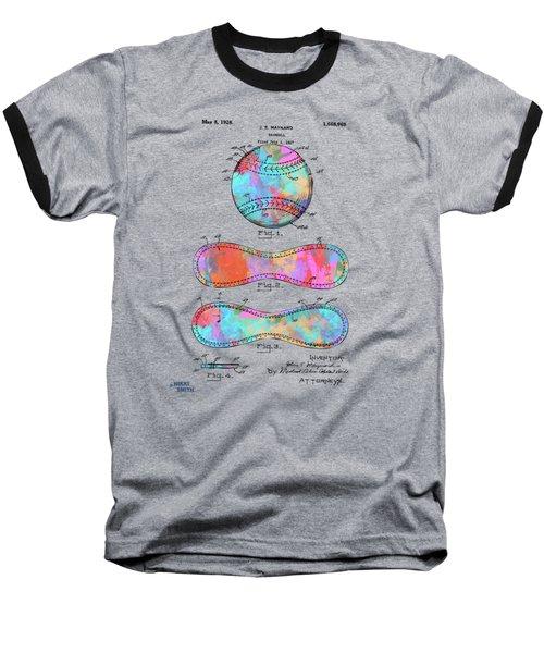 Colorful 1928 Baseball Patent Artwork Baseball T-Shirt