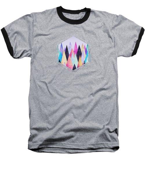 Colorful Abstract Geometric Triangle Peak Woods  Baseball T-Shirt