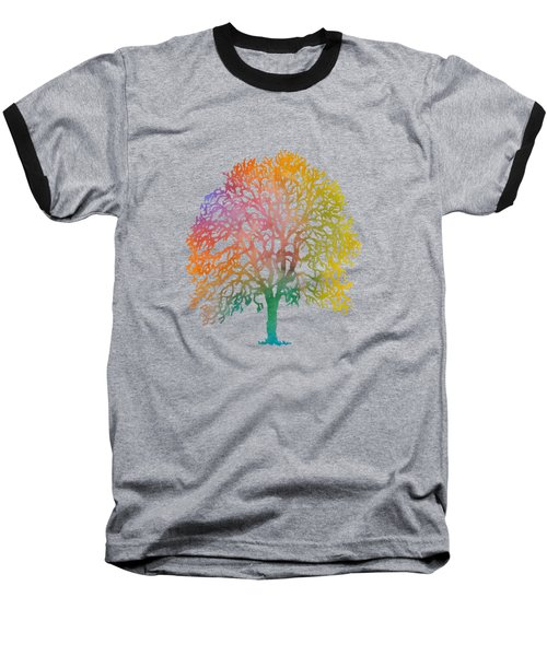 Colorful Abstract Painting Baseball T-Shirt