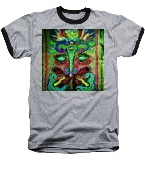 Colorful Abstract Painting Swirls And Dabs And Dots With Hidden Meaning And Secret Stories Of Birds  Baseball T-Shirt
