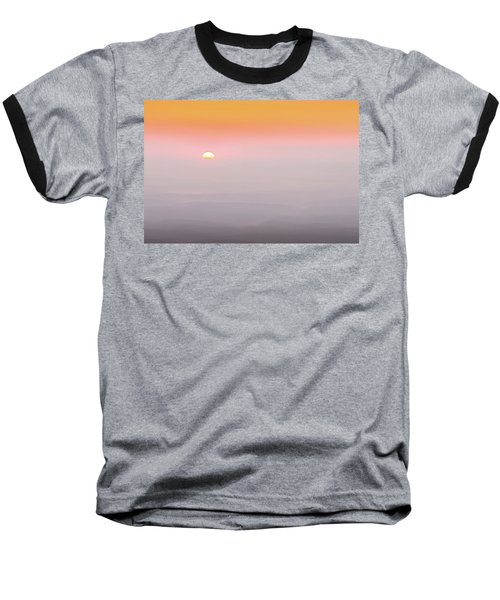 Colorful And Smoky Carolina Sunrise Baseball T-Shirt by Serge Skiba