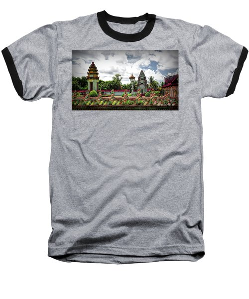 Colorful Architecture Siem Reap Cambodia  Baseball T-Shirt