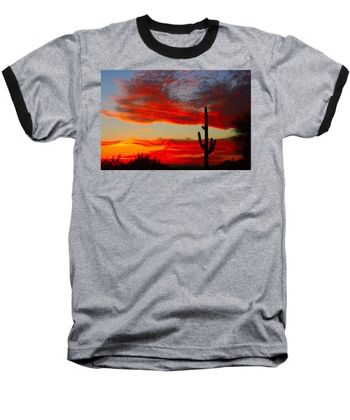 Colorful Arizona Sunset Baseball T-Shirt