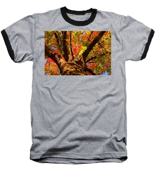 Colorful Autumn Abstract Baseball T-Shirt