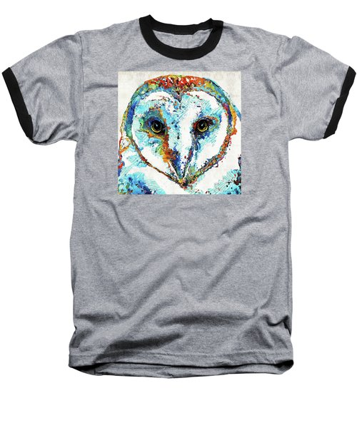 Colorful Barn Owl Art - Sharon Cummings Baseball T-Shirt