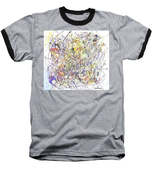 Colorful Blog Baseball T-Shirt by Lisa Kaiser