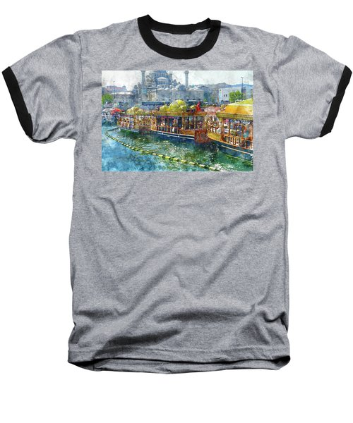 Colorful Boats In Istanbul Turkey Baseball T-Shirt