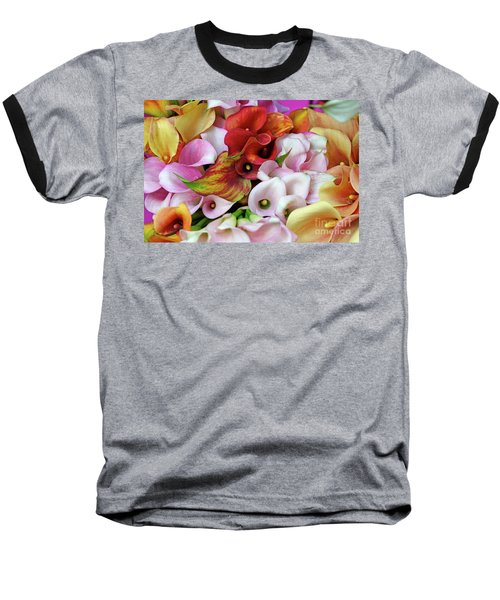 Colorful Calla Lilies Baseball T-Shirt
