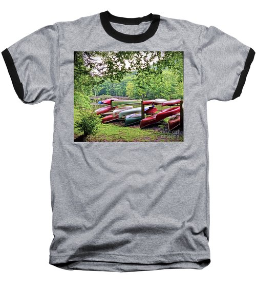 Colorful Canoes At Hungry Mother State Park Baseball T-Shirt