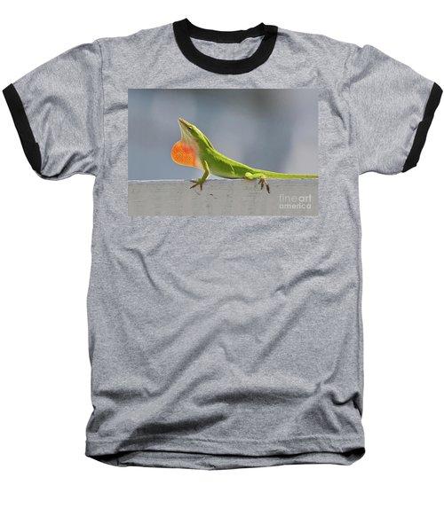 Colorful Carolina Anole Lizard Baseball T-Shirt