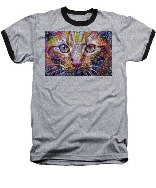 Colorful Cat Art Baseball T-Shirt