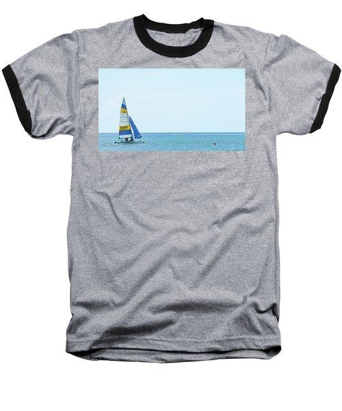 Colorful Catamaran 3 Delray Beach Florida Baseball T-Shirt