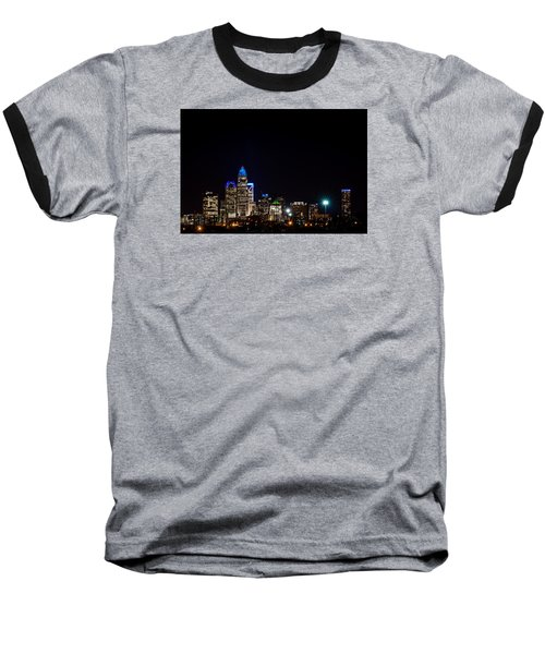 Baseball T-Shirt featuring the photograph Colorful Charlotte, North Carolina Skyline by Serge Skiba