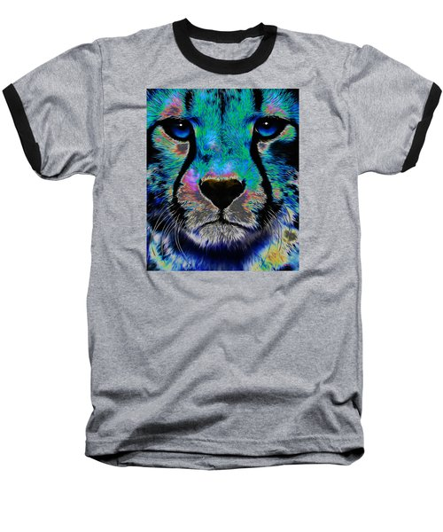 Colorful Cheetah Baseball T-Shirt