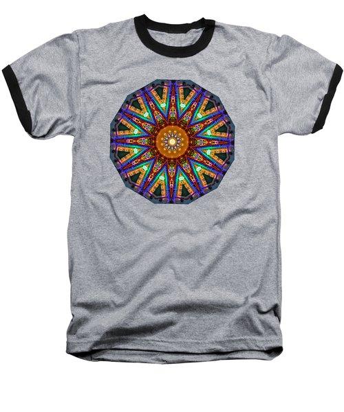 Colorful Christmas Kaleidoscope By Kaye Menner Baseball T-Shirt