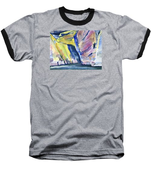 Colorful Cliffs And Cave Baseball T-Shirt