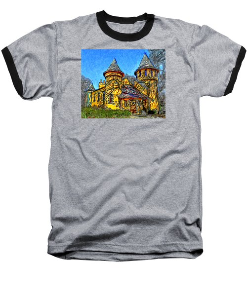 Colorful Curwood Castle Baseball T-Shirt by Bruce Nutting