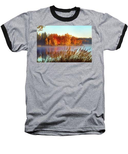 Colorful Dawn On Haley Pond Baseball T-Shirt