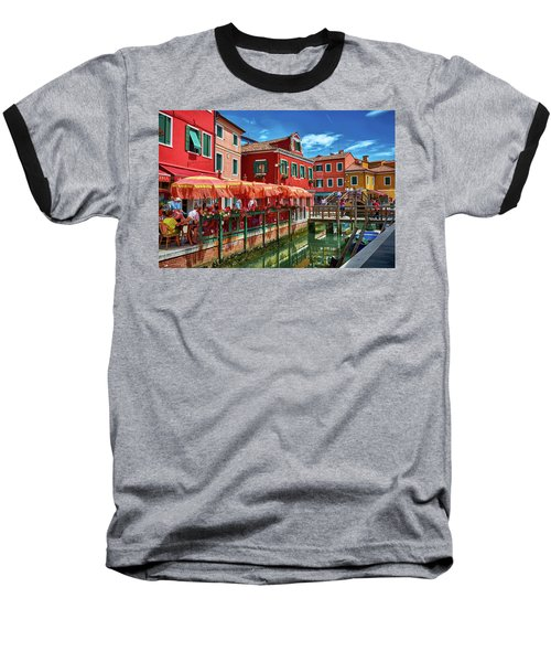 Colorful Day In Burano Baseball T-Shirt