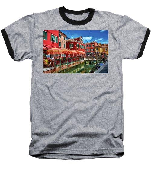 Colorful Day In Burano Baseball T-Shirt