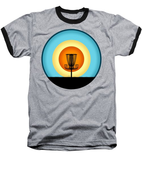 Colorful Disc Golf Basket Baseball T-Shirt
