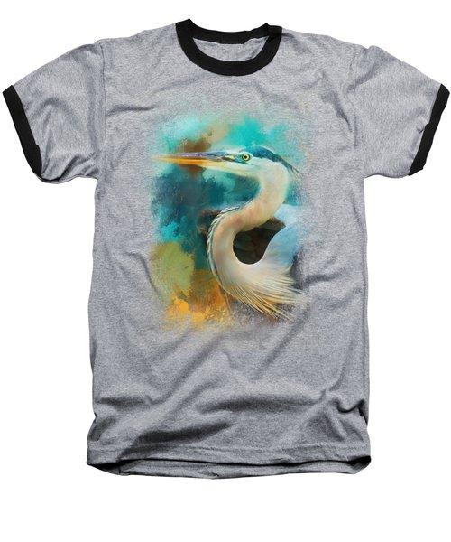 Colorful Expressions Heron Baseball T-Shirt by Jai Johnson