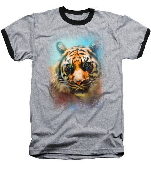 Colorful Expressions Tiger 2 Baseball T-Shirt by Jai Johnson