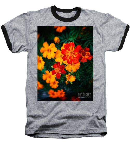 Baseball T-Shirt featuring the photograph Colorful Flowers by Silvia Ganora