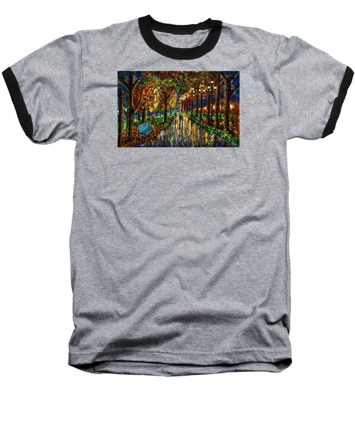Baseball T-Shirt featuring the digital art Colorful Forest by Darren Cannell