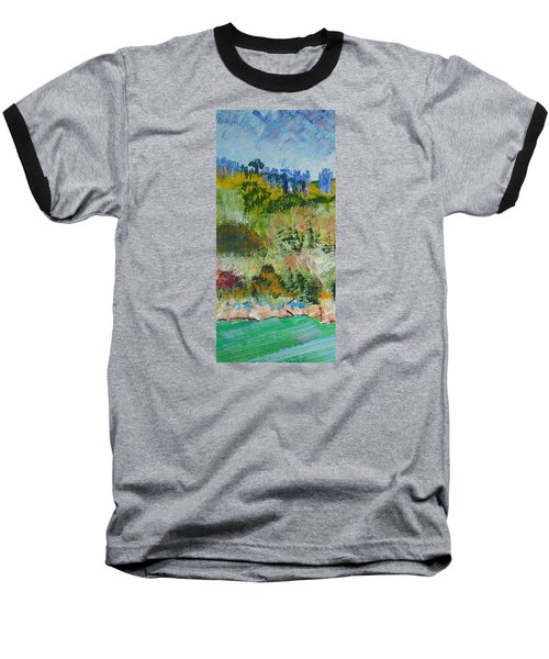 Colorful Forest On Cliffs Near The Sea In Dartmouth Devon Baseball T-Shirt