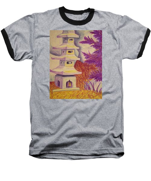 Colorful Garden Baseball T-Shirt