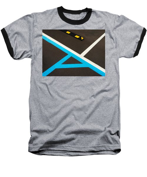 Colorful Geometry In The Parking Lot Baseball T-Shirt