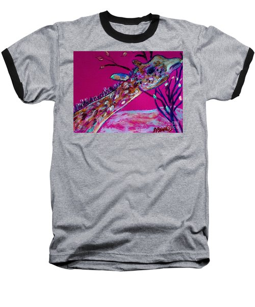 Colorful Giraffe Baseball T-Shirt