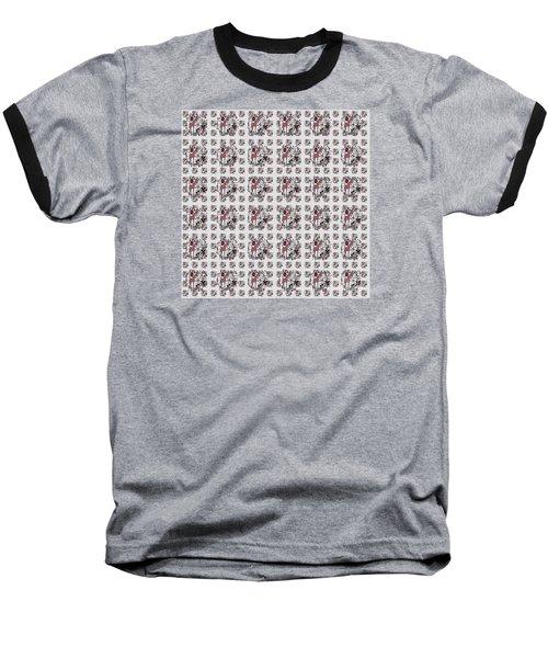 Colorful Giraffe Illustration Pattern Baseball T-Shirt
