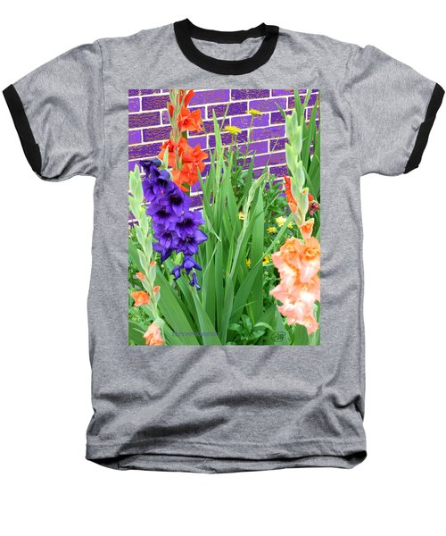 Colorful Gladiolas Baseball T-Shirt