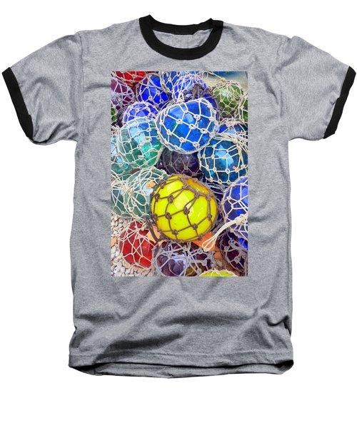 Colorful Glass Balls Baseball T-Shirt by Carla Parris