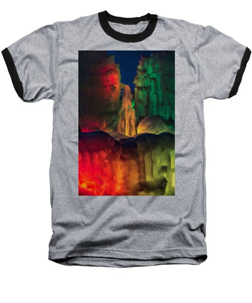 Colorful Ice  Baseball T-Shirt