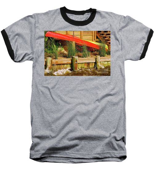 Baseball T-Shirt featuring the photograph Colorful Kayak Duo by Lois Bryan