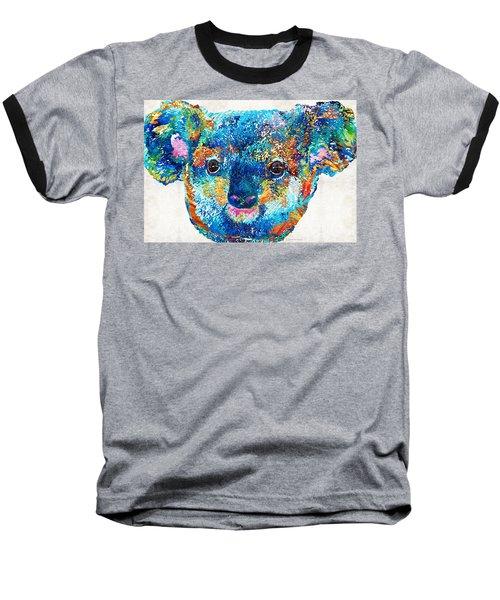 Colorful Koala Bear Art By Sharon Cummings Baseball T-Shirt