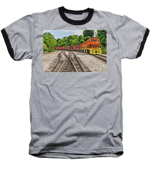 Colorful Marquette Rail Baseball T-Shirt