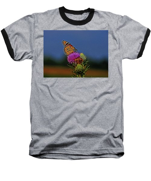 Baseball T-Shirt featuring the photograph Colorful Monarch by Sandy Keeton
