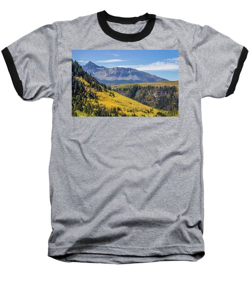 Baseball T-Shirt featuring the photograph Colorful Mountains Near Telluride by James Woody