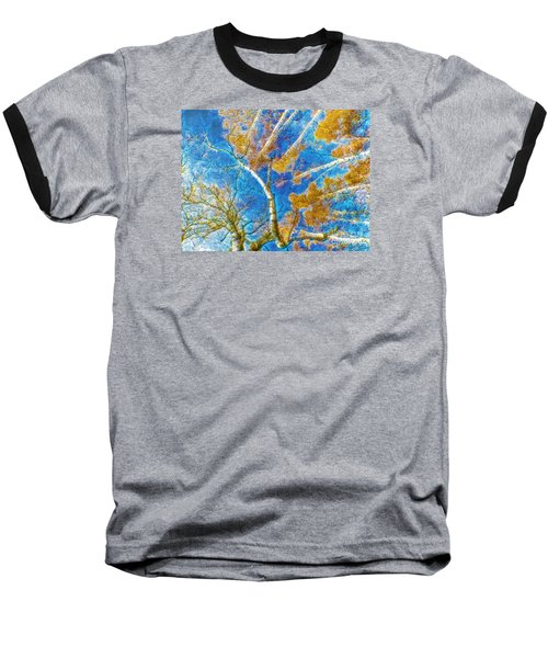 Colorful Mystical Forest Baseball T-Shirt by Odon Czintos