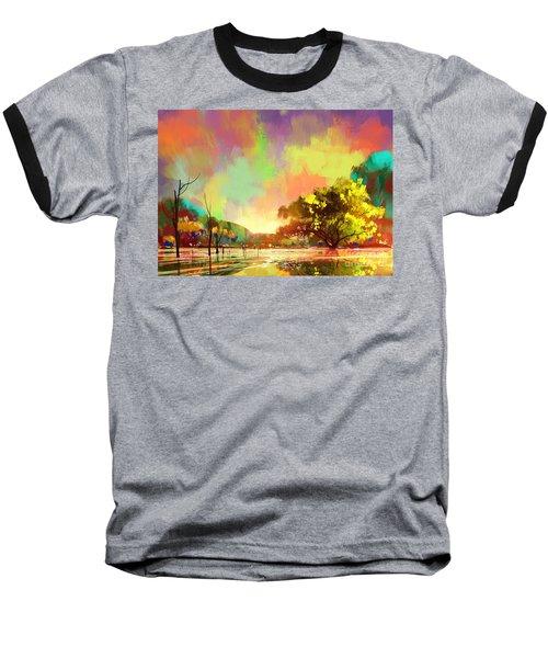 Colorful Natural Baseball T-Shirt
