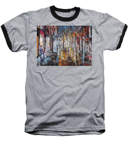 Colorful Night V Baseball T-Shirt