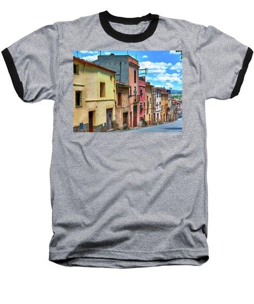 Colorful Old Houses In Tarragona Baseball T-Shirt