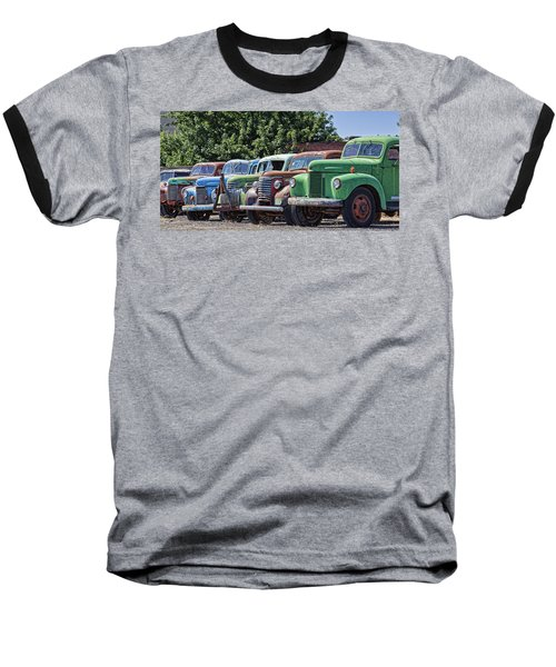 Colorful Old Rusty Cars Baseball T-Shirt