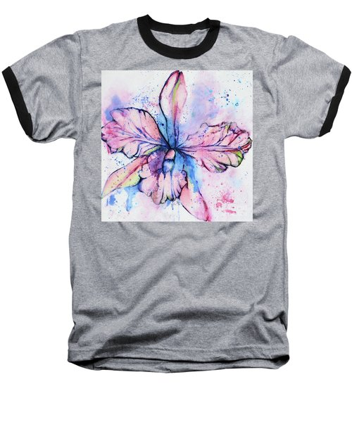 Colorful Orchid Flower Baseball T-Shirt