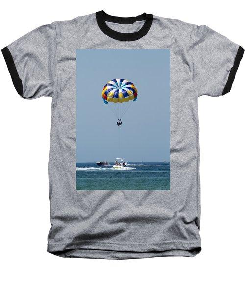 Colorful Parasailing Baseball T-Shirt
