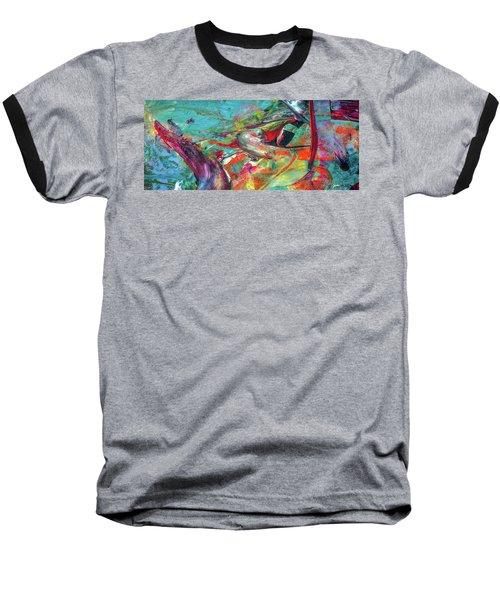 Colorful Puffin Bird Art - Happy Abstract Animal Birds Painting Baseball T-Shirt